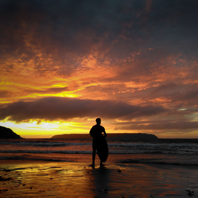 Sunset at Titahi Bay by Wellington Photographer